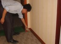 客房门口地毯缝隙内